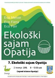 Poziv na prvi ovogodišnji Ekološki sajam Opatija, 02.04.2016.