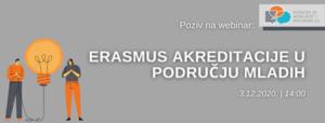 Webinar na temu Erasmus akreditacija u području mladih