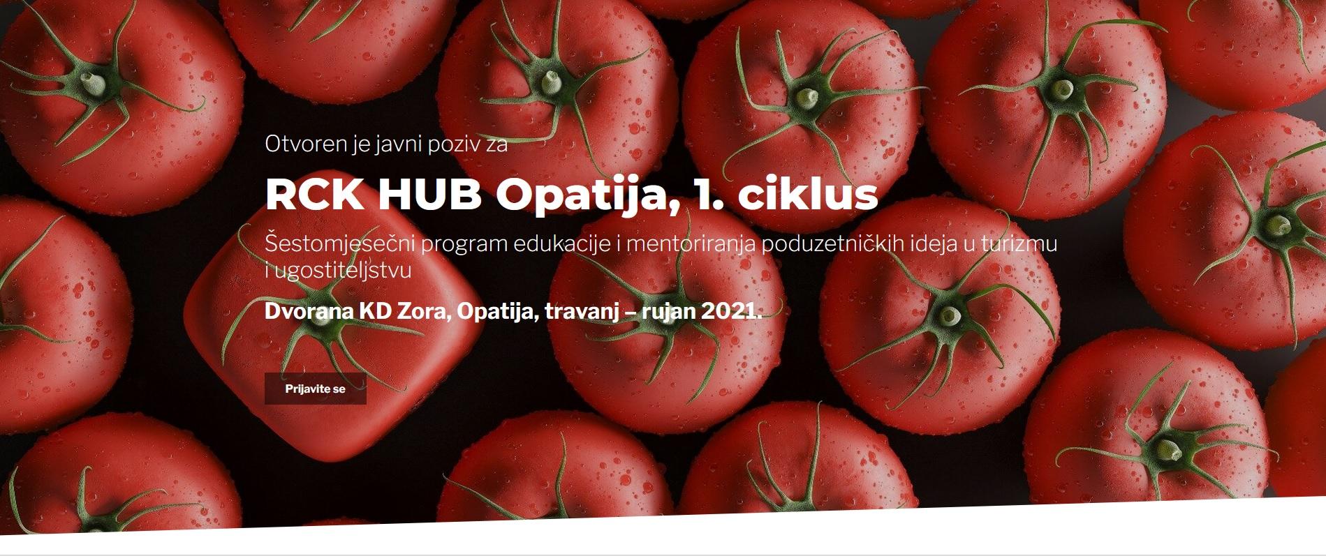 Otvorene prijave na 6-mjesečni program edukacije i mentoriranja u sektoru turizma i ugostiteljstva – RCK HUB Opatija