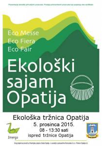 Dođite na 6. Ekološki sajam Opatija, 5. prosinca 2015.