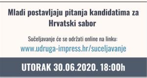 """Mladi: sadašnjost i budućnost Hrvatske """"Kome dati glas? Tko misli na nas?"""""""
