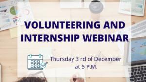 Webinar o volontiranju i pripravništvu / 3.12.2020.