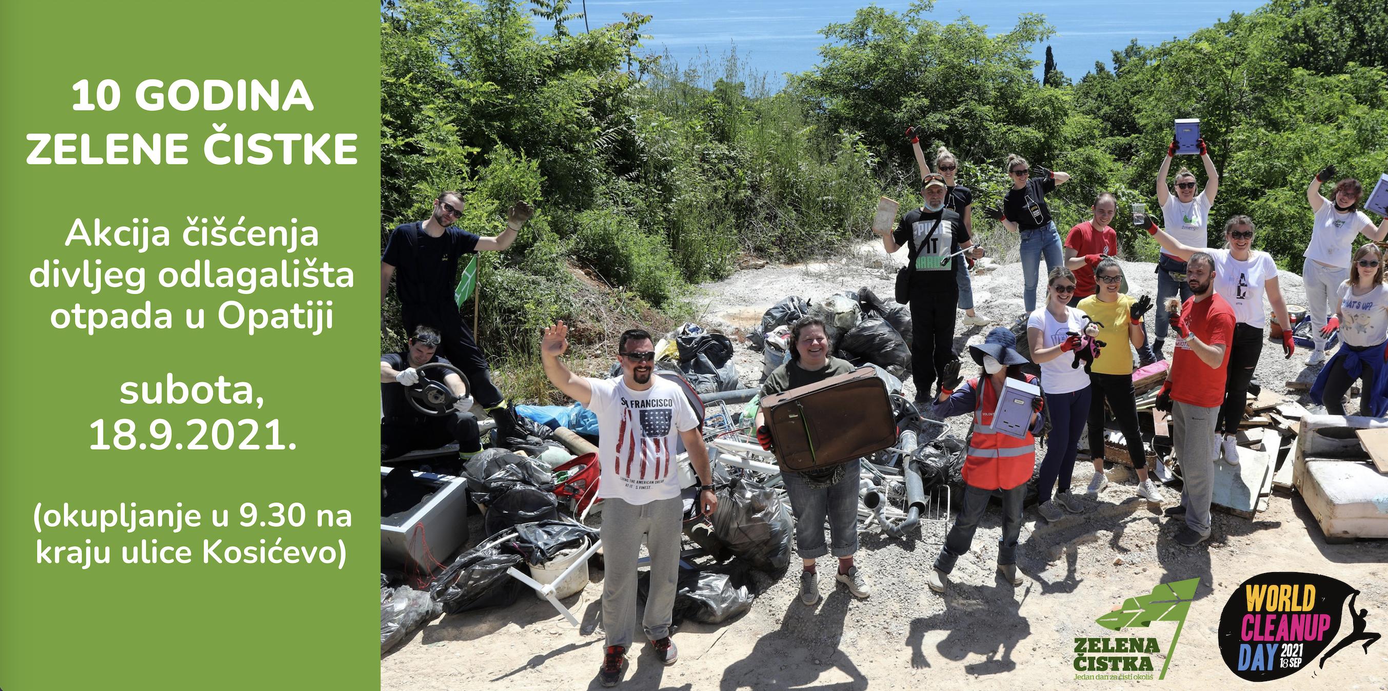 Akcijom čišćenja obilježavamo 10 godina Zelene čistke