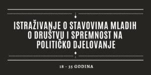 Istraživanje o stavovima mladih o društvu i spremnost na političko djelovanje
